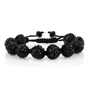 Emitations Shamballa Style Adjustable Rhinestone Bracelet