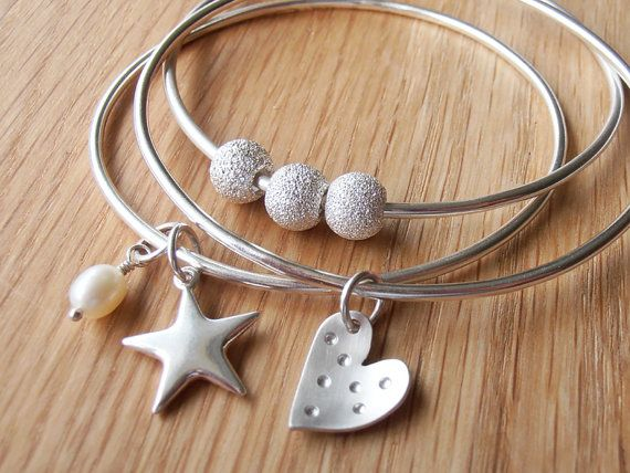 Silver Bangles, and I love stars and hearts