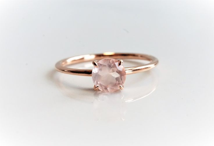 Rose Quartz Engagement ring  #affiliate #etsy #engagementrings #rings