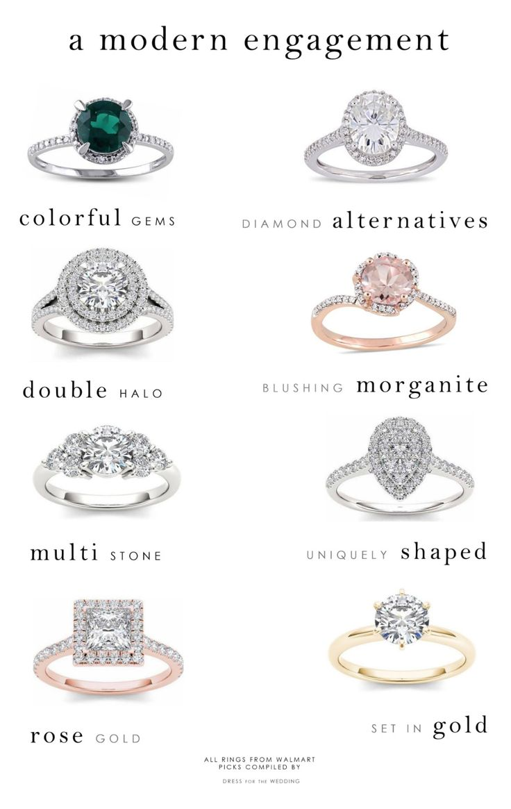 Top engagement ring trends for 2018 and 2019! Modern engagement rings and diamon...