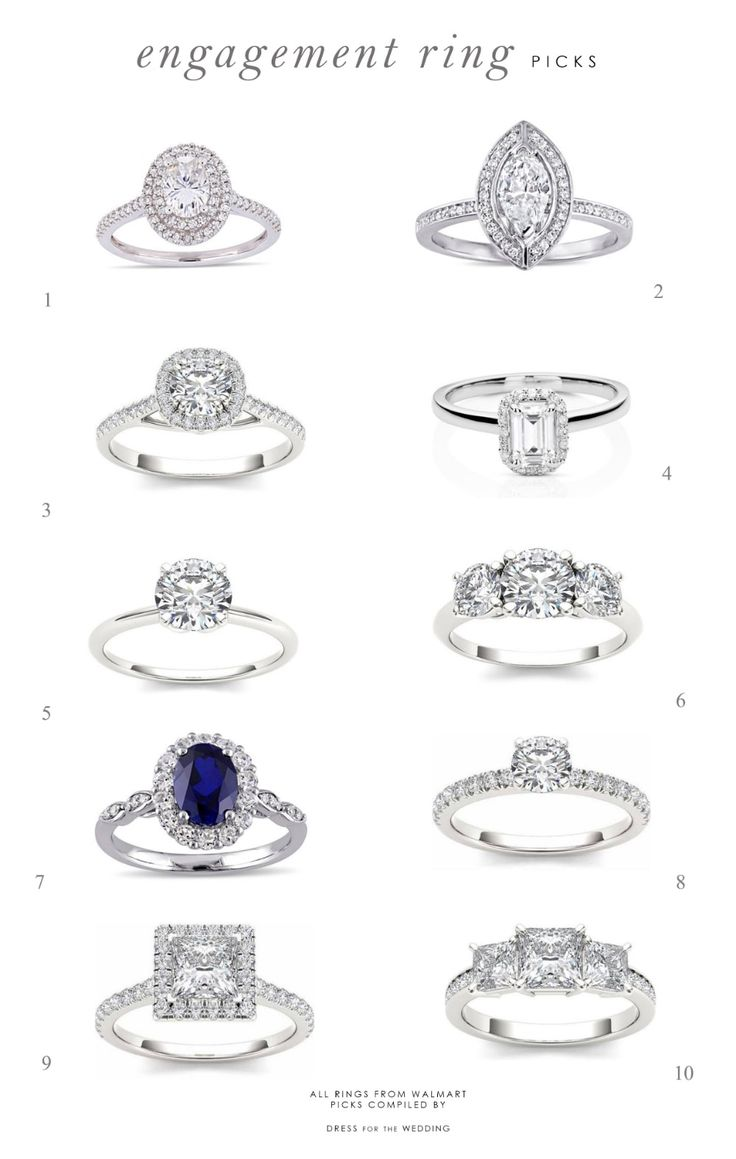Top picks for new engagment rings this season!  Halo, cushion cut, and moissanit...