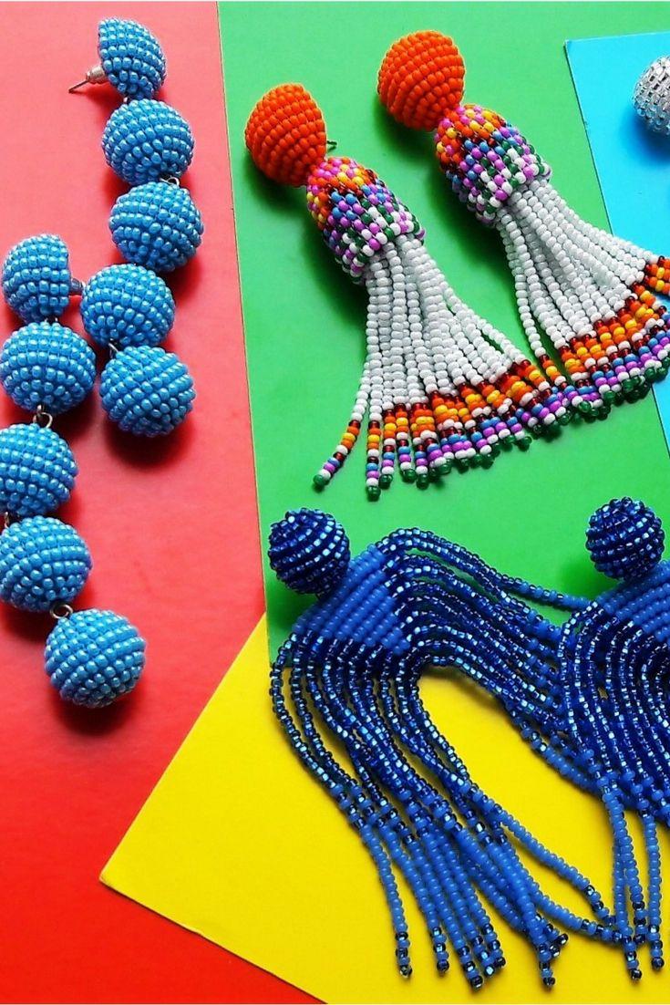 Statement earrings, tassel earrings, Les bonbon earrings from BeadSplendour | ...