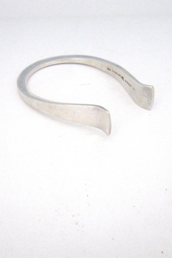 PLUS Designs, Norway - rare silver cuff by Erling Christoffersen