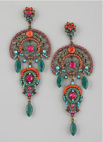 Aldazabal multi-color drop earrings  ♦F&I♦