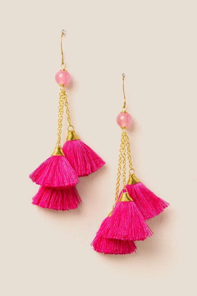 Clementine Cluster Tassel Earring   ♦F&I♦