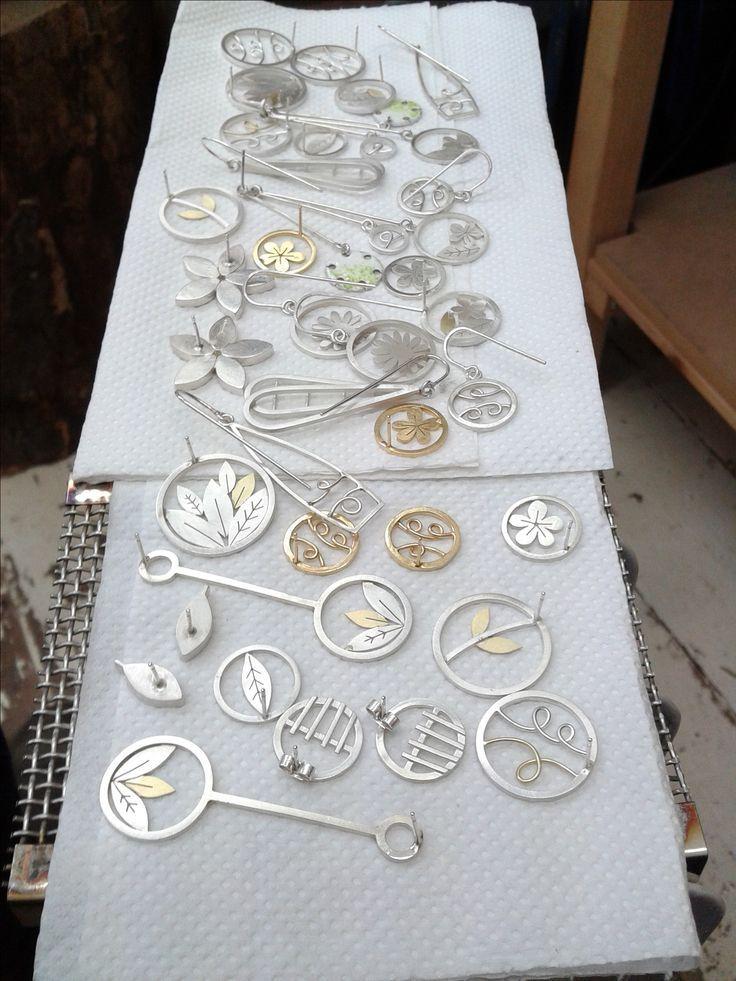 Pile of clean jewellery! Diana Greenwood