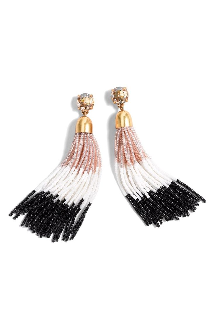 Tassel jewelry is kind of a thing right now and this super-lightweight pair will...