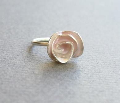 Powder Pink Rose Ring Uncovet