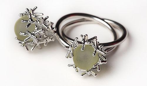 Zwetelina Alexieva  Ring: Twin  Silver, lemon citrine