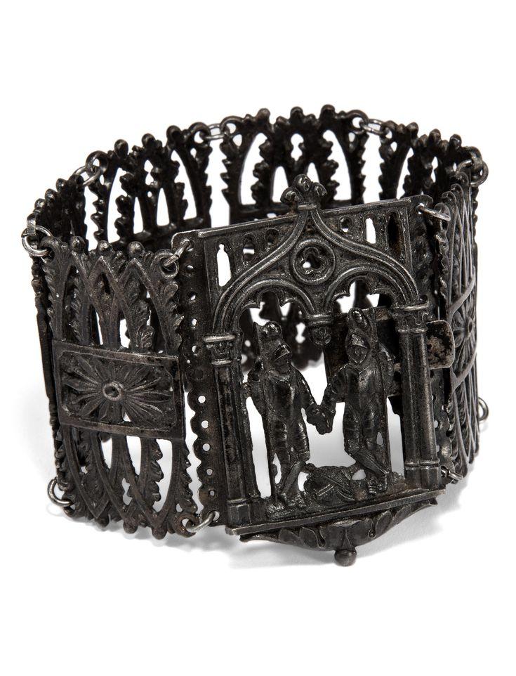 An antique Berlin ironwork bracelet, circa 1830.