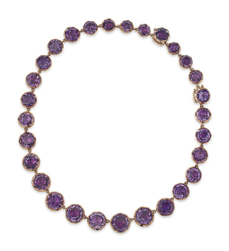 LATE 19TH CENTURY AMETHYST RIVIÉRE NECKLACE | necklace, amethyst | Christie&#39...