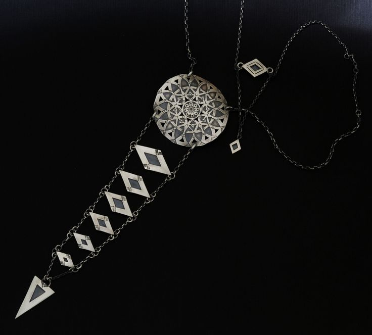 Silver necklace, by Stefani Courtois.