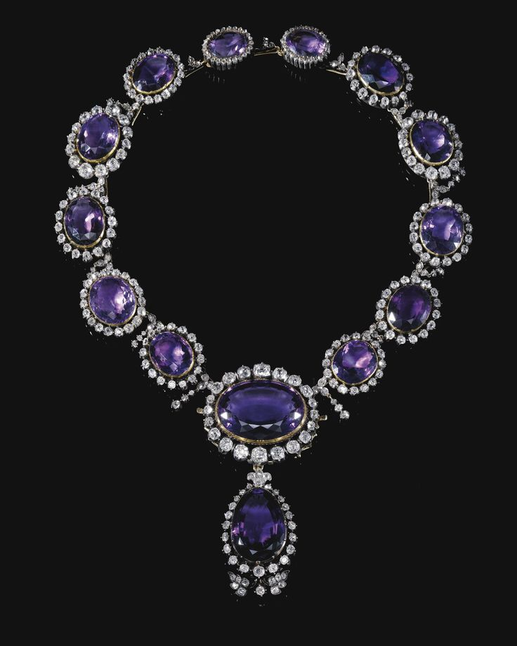 Sotheby's in May 2013. Amethyst and Diamond Demi-Parure: