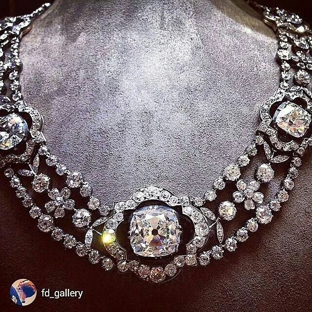 repost from @fd_gallery Does it get better? Mid 19th Century Diamond Necklace, w...