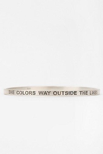 B.U. She Colors Way Outside The Lines Bangle Bracelet