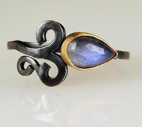 Moonstone Rings: Natasha Wozniak: Gold, Silver, & Stone Ring