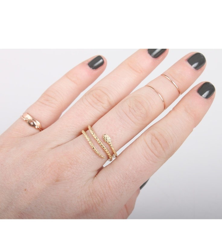 Oli & Me::Multi-Coil Snake Ring, available at www.catbirdnyc.com.