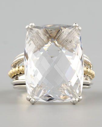 Silver Illumine Ring, White Topaz / Neiman Marcus