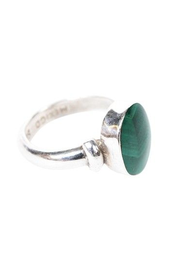 Vintage Bazaar  Sterling Silver Round Turquoise Ring