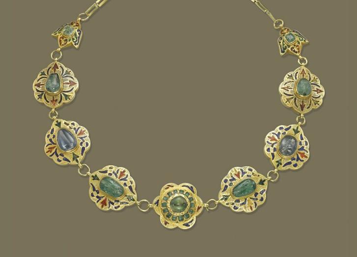 Emerald necklace.