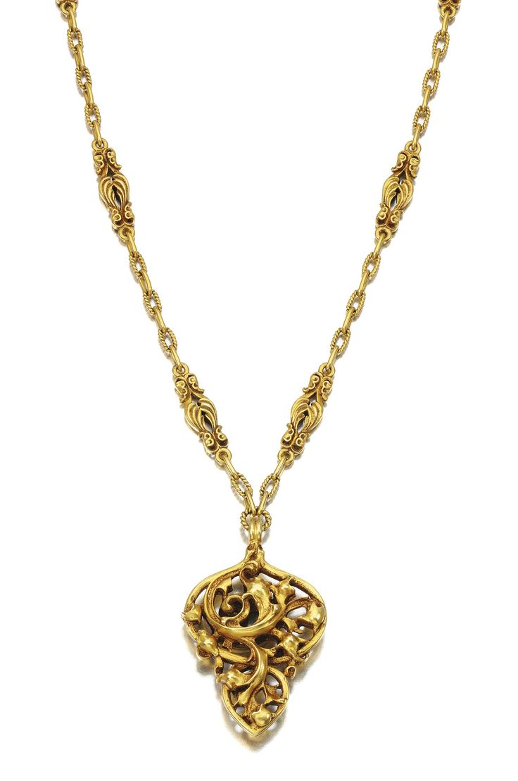 Gold necklace, Louis Wièse, circa 1890.