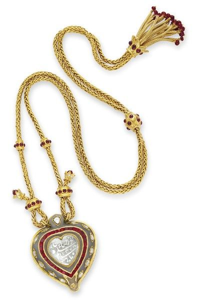 Taj Mahal diamond. The gold and ruby chain by Cartier, circa 1627 – 28, was a ...