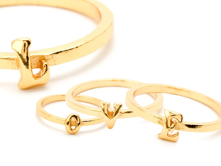 Alphabet Stackable Rings by Gorjana