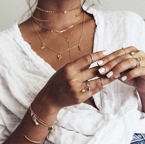 Imagem de fashion, necklace, and nails