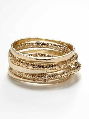 Kendra Scott Jewelry Set Of 5 Textured Bangles