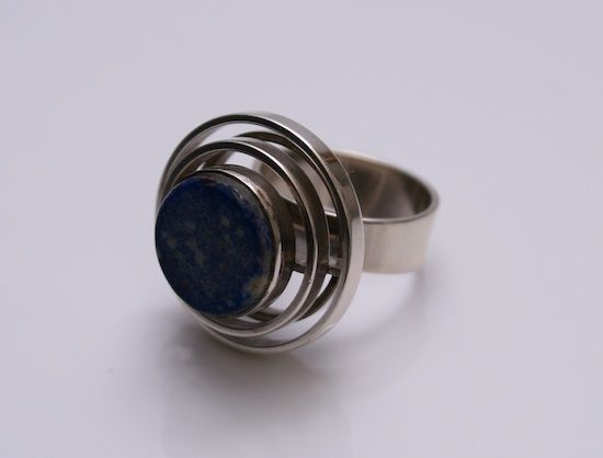 Ring   N.E.From Denmark.  Sterling Silver with Solidite stone.  c.1970