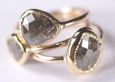 i love rough cut diamond rings