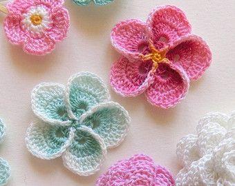 Au crochet motif de fleurs. Motif de fleur de frangipanier Plumeria, tutoriel ph...