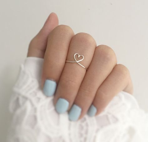 The 1 Heart Ring,layering tiny jewelry,very adjust,college student gift,girlfrie...