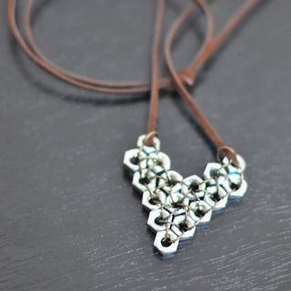 Cool Diy Jewelry-Valentines' Gifts for Him out of Hex Nuts