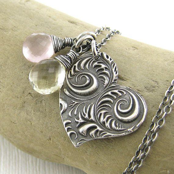 Heart Jewelry Valentine Jewelry Necklace Charm by JenniferCasady, $70.00