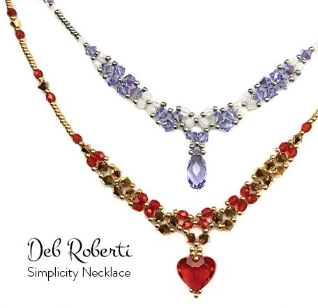 Simplicity Necklace, free crystal necklace pattern