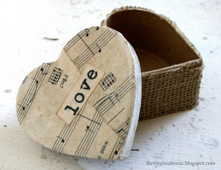Valentine Jewelry Box Decorative Heart LOVE Vintage Look FREE Shipping. $7.00, v...