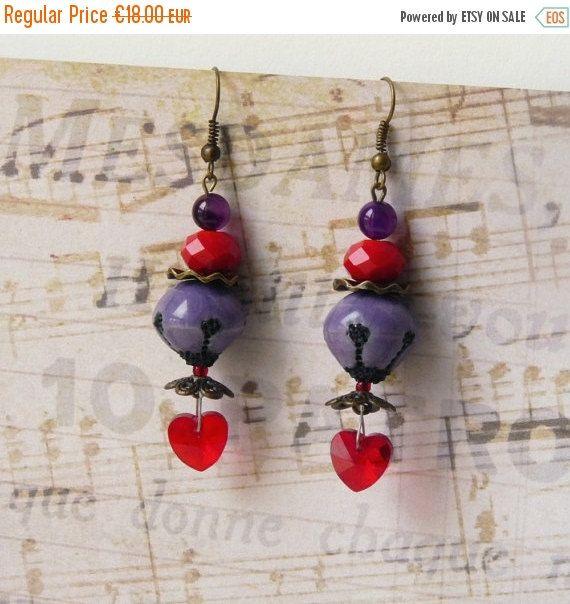 Valentine earrings www.etsy.com/...