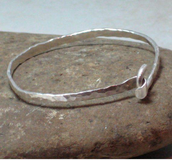 Sterling Silver Artisan Hammered Sterling by stoneandsterling