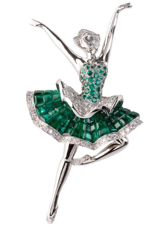 Van Cleef & Arpels, French fine jewelry brand, creates elegant ballet dancer jew...