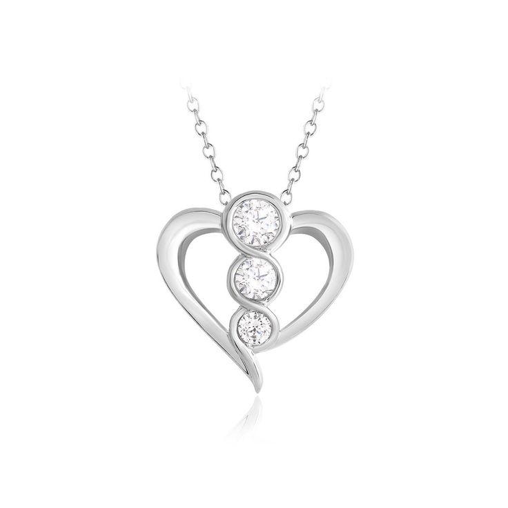 0.33 Ct Real Diamond Heart Pendant 16