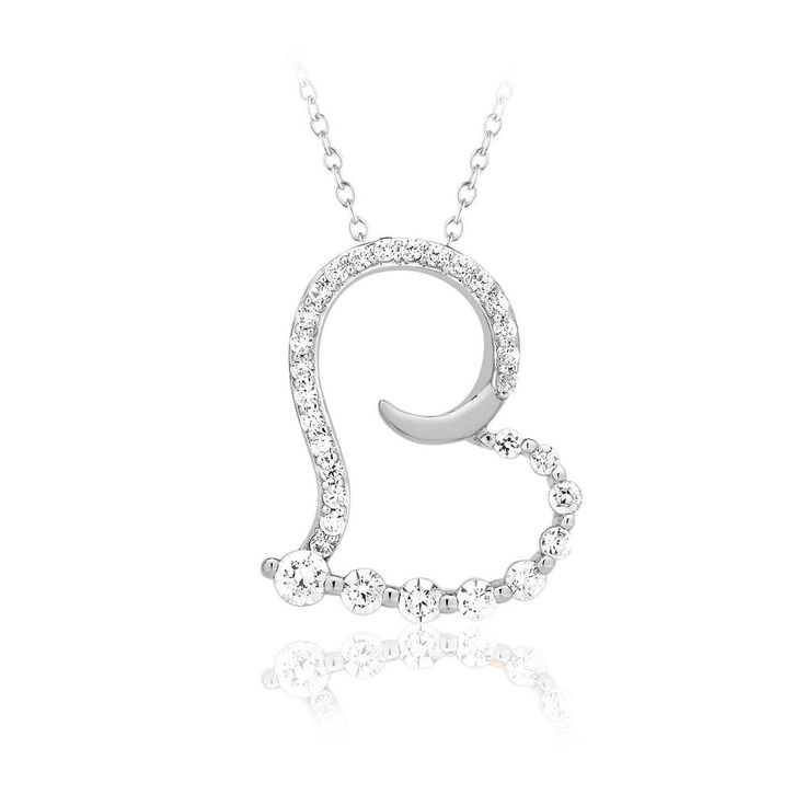 3/7 Ct Real Diamond Heart Pendant 16