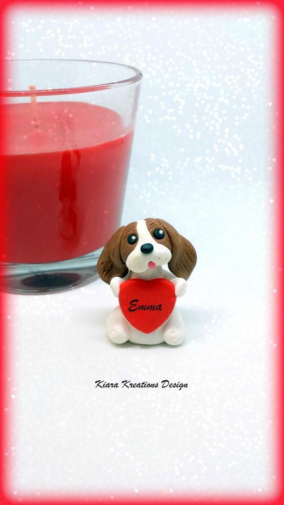 Cavalier King Charles figurine in polymer clay perfect as Valentines Gift for ca...