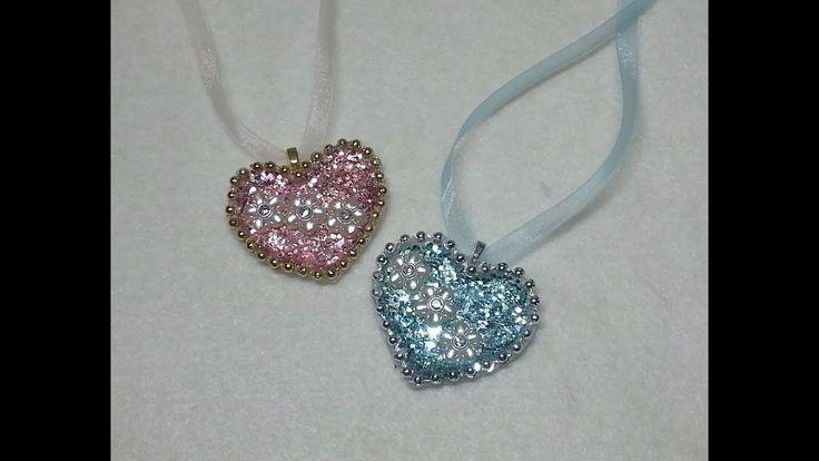 DIY~Make Gorgeous Vintage Heart Necklaces OR Embellishments! - YouTube