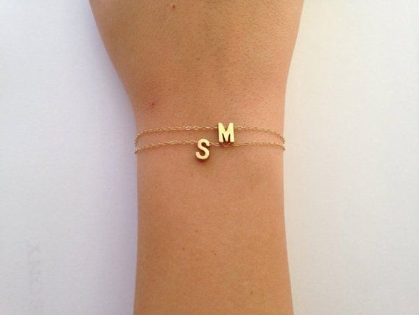 Jewelry is usually a Valentine's Day go-to. Personalize a bracelet with her in...