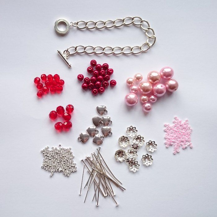 The great thing about making a beaded charm bracelet like this one is that you c...