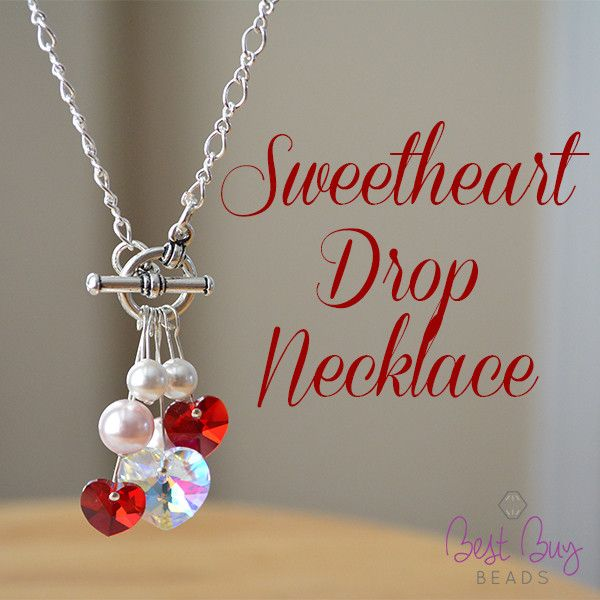 Try out simple and stylish Sweetheart Drop Necklace. Make it exactly the way it ...