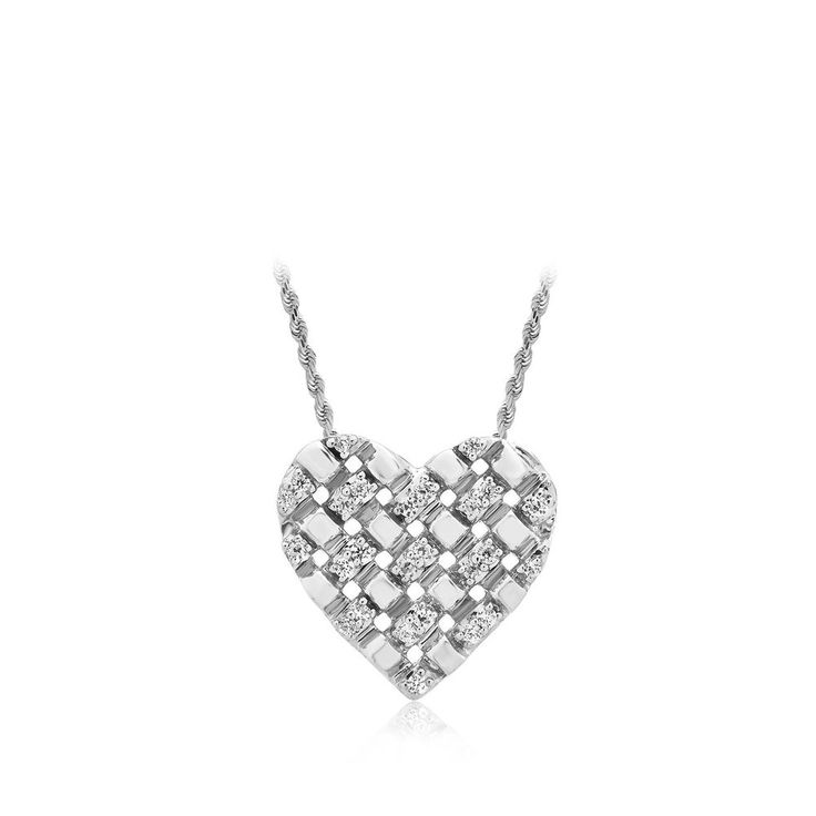 Valentine's Day Gift 0.25 Ct Real Diamond Heart Pendant 16