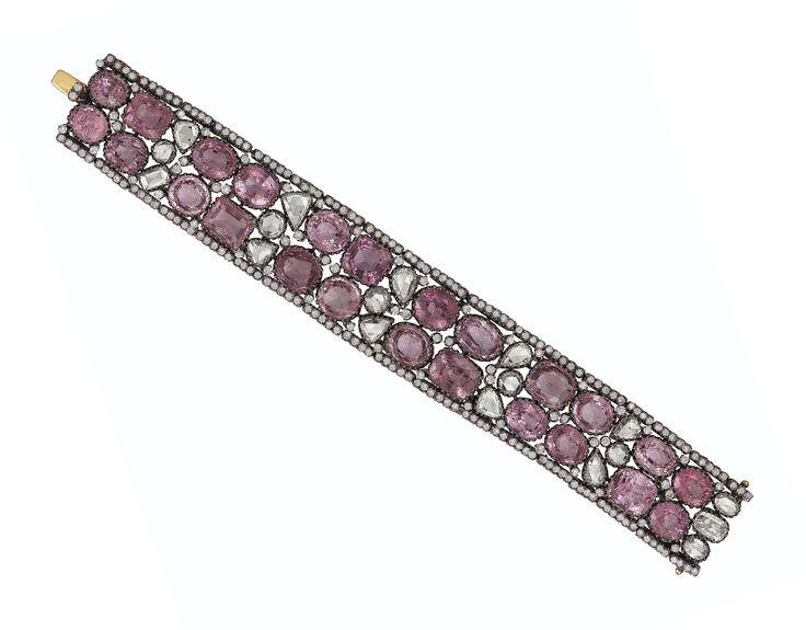 SPINEL AND DIAMOND BRACELET | bracelet, diamond | Christie's