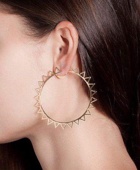 Jack Vartanian - 'Argola Edgy' 18K Gold Hoop Earrings